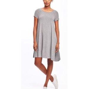 Grey short sleeve swing dress from Old Navy